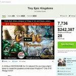 Kickstarterにてボードゲーム「Tiny Epic Kingdoms」へ出資した