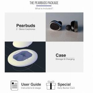 超小型のワイヤレスイヤフォン「Pearbuds」